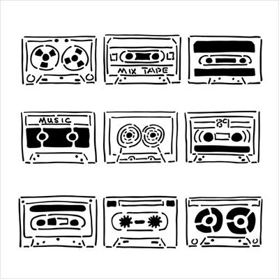 Crafters Workshop Crafter's Workshop Templates 12 X12 - Mix Tape
