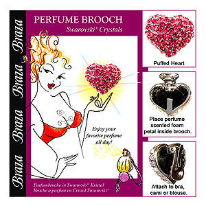 Braza Perfume Brooch-Puffed Heart