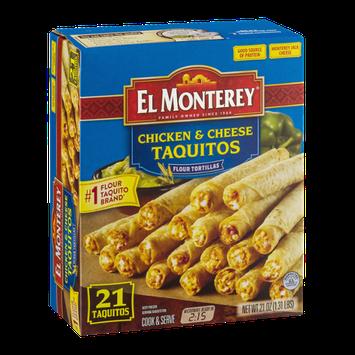 El Monterey Chicken & Cheese Taquitos - 21 CT