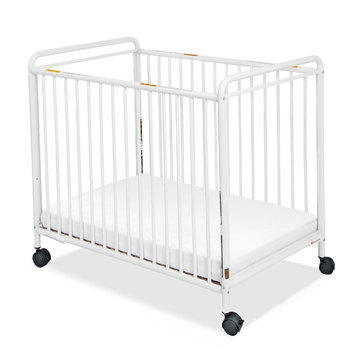 Foundations Worldwide, Inc. Foundations Chelsea Steel Non-folding Clearview Compact Crib