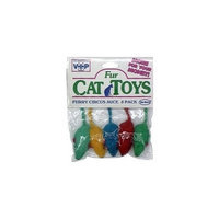 Votoys Vo-Toys Circus Mice Assorted Colored 5 pack Cat Toy