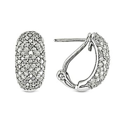 Amour 1 Carat Diamond Total Weight Ear Pin Earrings Silver I3