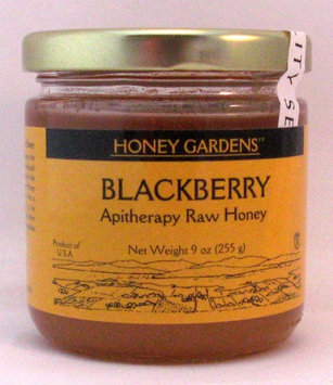 Apitherapy Raw Honey Blackberry Honey Gardens 9 oz Glass Jar