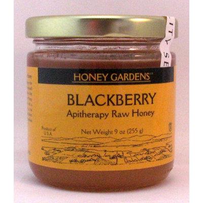 Apitherapy Raw Honey Blackberry Honey Gardens 9 oz Glass Jar