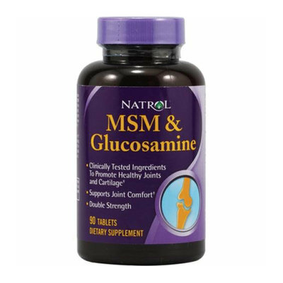 Natrol MSM and Glucosamine Double Strength 90 Tablets