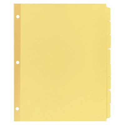 Avery 11 x 8-1/2 Write-On Plain Tab Dividers, 8-Tab- Buff (24 Sets