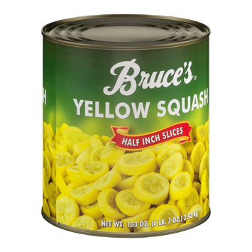 Bruce's Yellow Squash Half Inch Slices