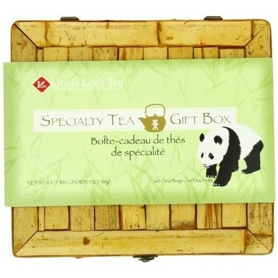 Uncle Lee's Tea, Assorted Tea, 60-Count Bamboo Box