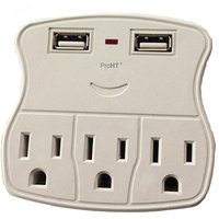 Inland Wall Tap Surge Protector with 2 USB Charging Ports