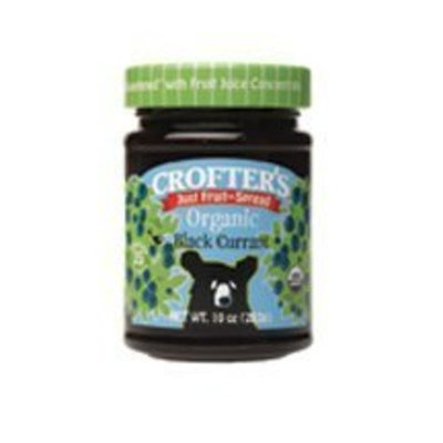 Crofter's Crof ters Fruit Spread-Black Currant/No Sugar (95% Organic), 10-Ounce (Pack of 6)