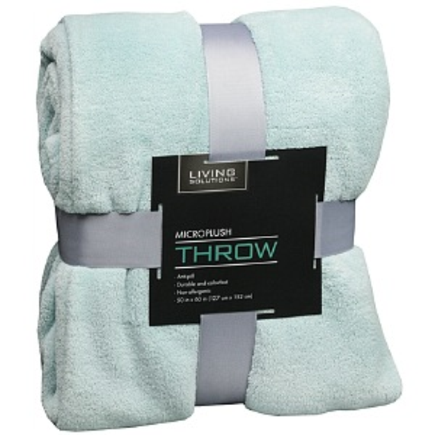 Living Solutions Microplush Throw 50X60 Pattern Varies