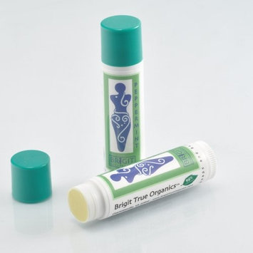 Brigit True Organics- Peppermint Lip Balm, 0.15 oz. (99.5% ORGANIC)
