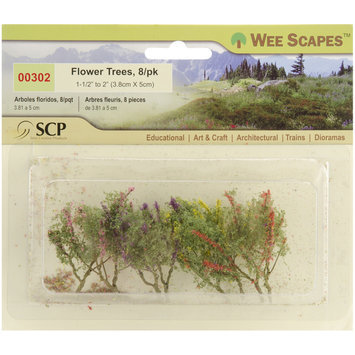 Scp Wee Scapes Miniature Flower Trees (Pack of 8)