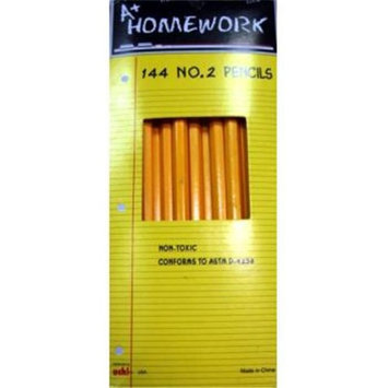 DDI 396260 Pencils - 144 count boxed - No. 2 lead. Case Of 24
