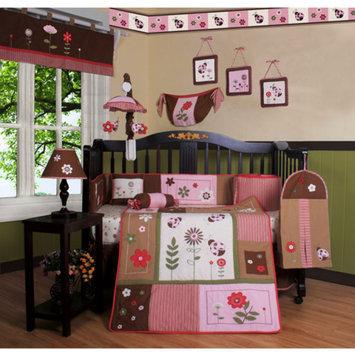Geenny Boutique Ladybug Flower 13 Piece Crib Bedding Set