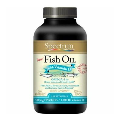 Spectrum Essentials Fish Oil With Vitamin D 250 Softgels