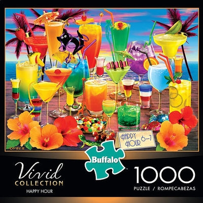 Buffalo Games, Inc. Buffalo Vivid Collection Happy Hour Jigsaw Puzzle - 1000-Piece