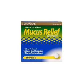 Good Sense Mucus Relief -- 30 Tablets