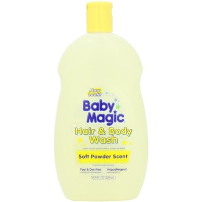 Baby Magic Hair and Body Wash, Soft Powder Scent, 16.5 Ounces (Pack of 6)