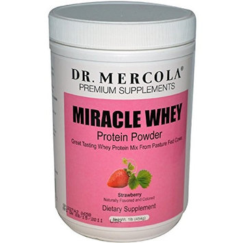 Dr. Mercola Premium Products - Miracle Whey Protein Powder Strawberry - 1 lb.