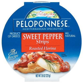 Peloponnese Sweet Pepper Strips, Roasted Florina, 7.8-Ounce Plastic Tubs (Pack of 6)