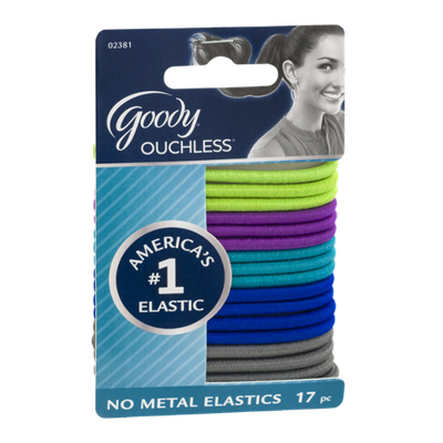 Goody Ouchless No Metal Elastics - 17 CT