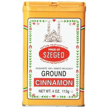 Szeged Ground Cinnamon, 4-Ounce Tins (Pack of 6)