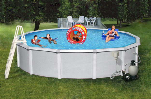 Swim Time Samoan Round Metal Wall Swimming Pool 21' x 52