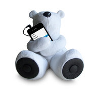 Sungale - Rspa, Inc Sungale - RSPA Inc S-T1 Teddy Bear Speaker-White