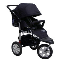 Tike Tech Single City X3 Swivel Stroller - Classic Black