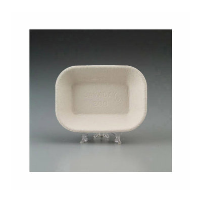 CHINET Savaday Molded Fiber 5.5'' x 7.5'' Food Tray in Beige