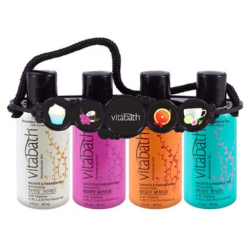 Vitabath Moisturizing Body Wash Fragrance Collection Travel Size Carrier, Assorted, 1 ea