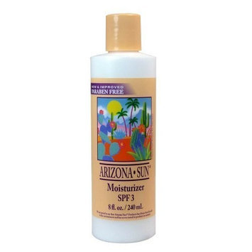 Arizona Sun Moisturizer SPF 3 - 8 oz -Natural Aloe Vera and Plants and Cacti from the Desert Provide Soothing Moisture for Dry Skin - Oil Free - Face and Body Lotion - Cream