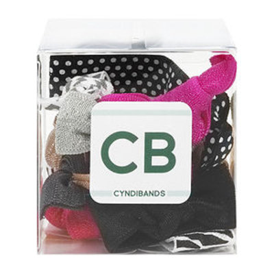 Cyndibands CyndiBands Gift Cube with 10 Elastic Hair Ties, Moxie, 1 ea