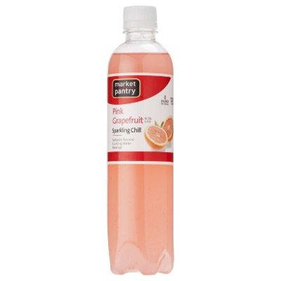 market pantry Market Pantry Pink Grapefruit Sparkling Chill Water Beverage 17 oz