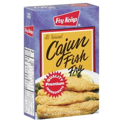 Fry Krisp Cajun Fish Fry, 10-Ounce (Pack of 12)