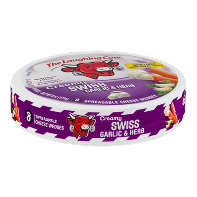 The Laughing Cow Creamy Swiss Garlic & Herb Spreadable Cheese Wedges - 8 CT