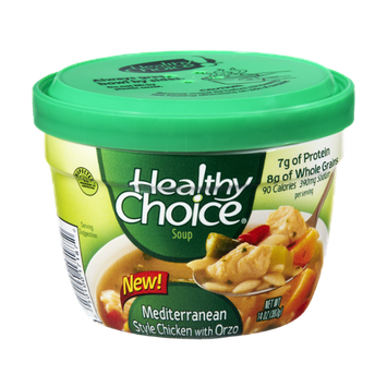 Healthy Choice Mediterranean Style Chicken with Orzo Soup
