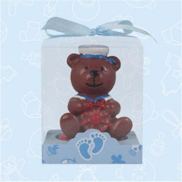 De Yi Enterprise De Yi 11005-BL Sailor Bear Candle Favors in Blue