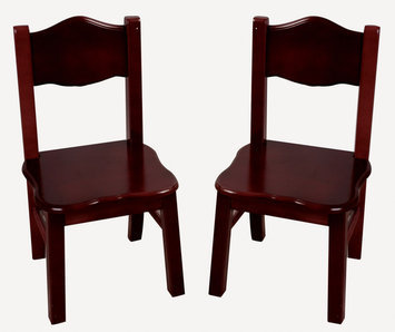 Guidecraft, Inc. Classic Espresso Extra Chairs (Set of 2) - Guidecraft - G86203