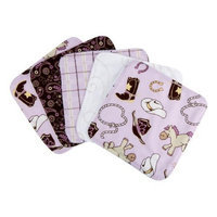 Trend Lab Set of 5 Wash Cloth, Rodeo Princess