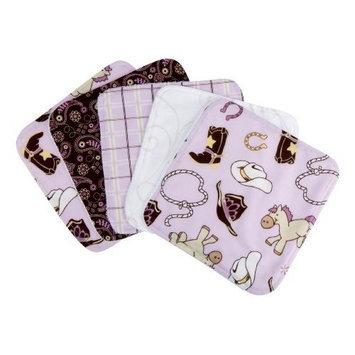 Trend Lab Set of 5 Wash Cloth, Rodeo Princess