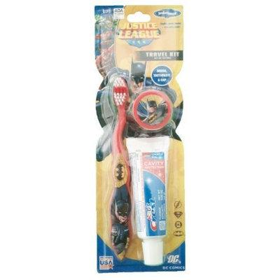 L'Oréal Marvel Justice League DC Avengers Spiderman Batman Hulk Toothbrush 3 Pack (Batman with Crest 3 pack)