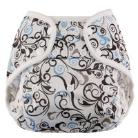 Blueberry Coveralls Diaper Cover Snap, Swirls (Discontinued by Manufacturer)