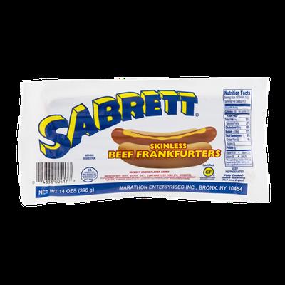 Sabrett Skinless Beef Frankfurters - 8 CT
