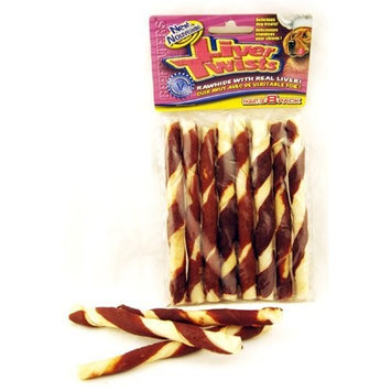 Beefeaters Wrapped Rawhide Twist Dog Treat Quantity: 8-pack, Flavor: Liver