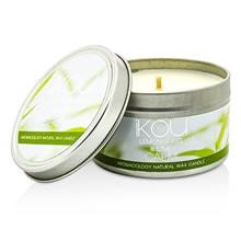 Ikou Eco-Luxury Aromacology Natural Wax Candle Tin Happiness (Coconut & Lime) 230G/8Oz