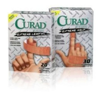 Medline CUR14925 Curad Extreme Hold Bandages, Brown (Case of 24)