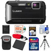 Panasonic Lumix DMC-TS25 Shock & Waterproof Digital Camera (Black) with 32GB Card + Battery + Case + Floating Strap + Flex Tripod + Accessory Kit