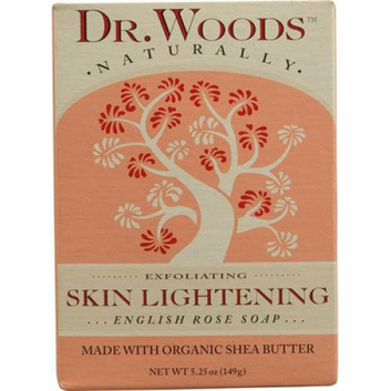 Dr. Woods Bar Soap Skin Lightening English Rose 5.25 oz